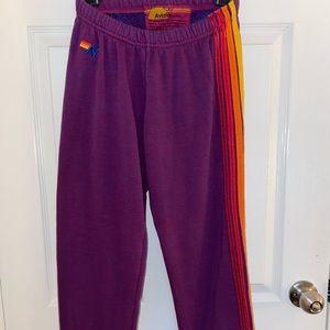 Purple Aviator Nation Sweatpants (used once)